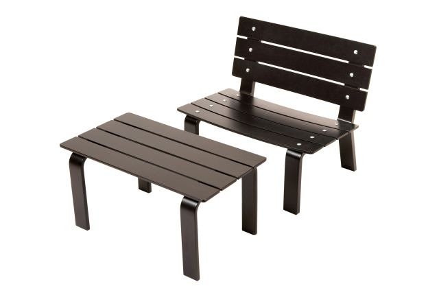 LOVESEAT chair and LINK Table set