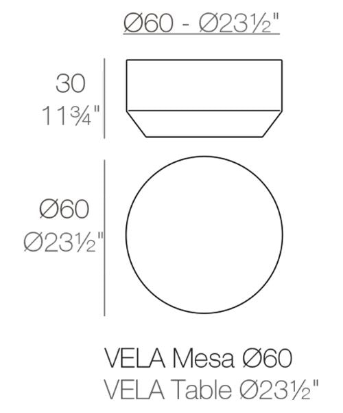 VELA ROUND COFFEE TABLE Dm. 60x30 cm