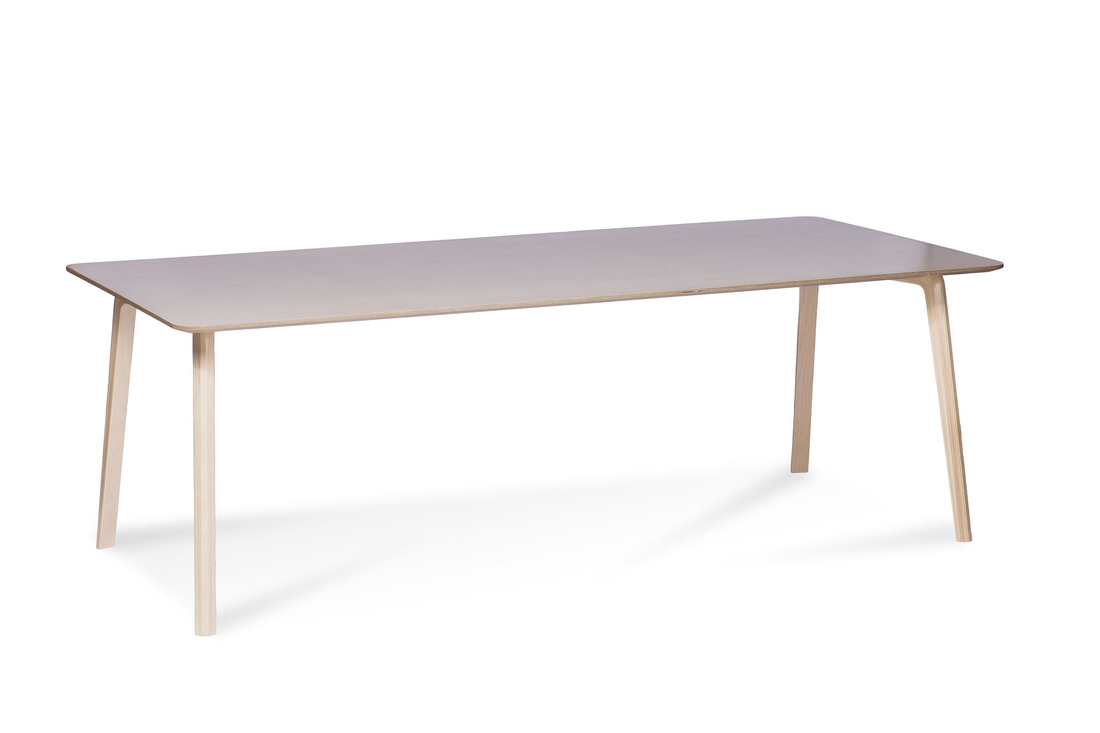 MILONGA table with birch veneer
