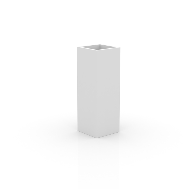 SQUARE TOWER POT 35x35x100